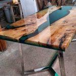 Designer Epoxidharz Tisch